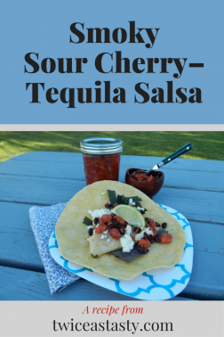 One pass through the new Ball canning book was all I needed to decide what I would create for Can-It-Forward Day. How could I pass up the chance to combine tart cherries, chipotles, cilantro, and tequila? Learn to make Smoky Sour Cherry–Tequila Salsa and Grilled Fish Tacos.