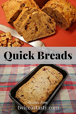 I didn't inherit my dad's sweet tooth and seek more flavor and less sugar when baking with summer or winter squash. Learn to make Zucchini Sesame Bread and Harvest Pumpkin Bread.