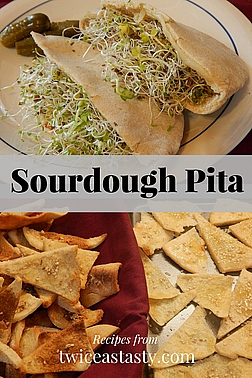 Some form of flatbread practically defines most food cultures. One, pita, only gets better—and easier to make—when based on sourdough. Learn to make Sourdough Pita Bread and Chips.