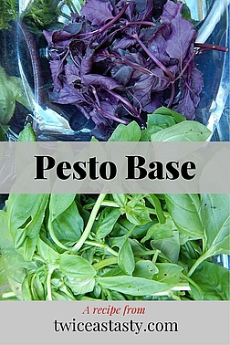 I love basil. Its flavor really only pops when it's just off the plant—and boy, does it pop. Learn to make Basil Pesto Base and Spring Pesto with Pea Shoots.