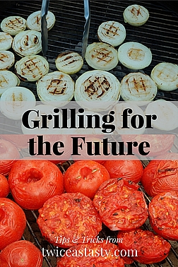 Grilling takes extra initial effort but saves time on canning day or when throwing dinner together; in other words, it saves time when it matters most. Read more about grilling vegetables and fruits.