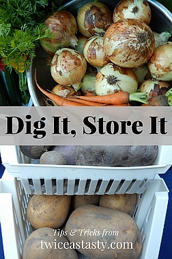 If I can find room in my 500-square-foot cabin to store the last garden haul in boxes, baskets, and coolers, so can you. Read more about storing vegetables and fruit for winter.