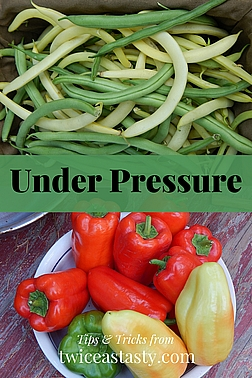 I don't pressure can. Why? I find that pickling, freezing, or other ways of preserving low-acid vegetables produce tastier results than pressure canning. Read more about (not) pressure canning.