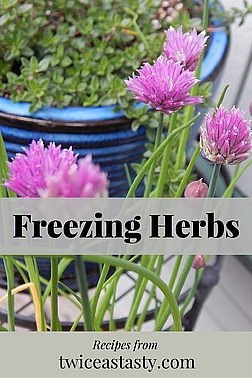 Herbs are easily preserved for year-round use. Most herb savers dehydrate their harvest, but chives in particular taste better when frozen. Learn how to freeze chives and make Herb Butter.