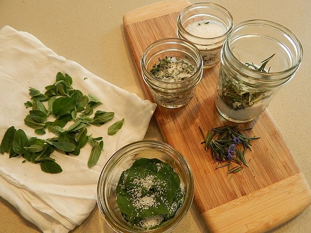 Beyond drying and freezing, the rising popularity of artesian salts and infusions has brought attention to herbs preserved in salt or sugar. Learn to make Salt-Preserved Herbs and Herb-Infused Sugar.