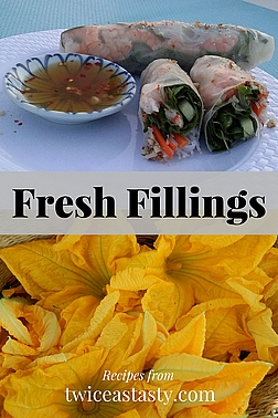 Whether you're filling summer rolls or stuffing squash blossoms, a light, gentle hand with both filling and wrapping is essential for success. Learn to make Summer Rolls and Stuffed Squash Blossoms.