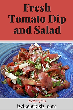 Tomatoes area my favorite summertime, homegrown vegetables. Each variety adds a distinct flavor and texture to fresh dishes. Learn to make Herbed-Tomato Dip and Panzanella (Tomato and Bread Salad).