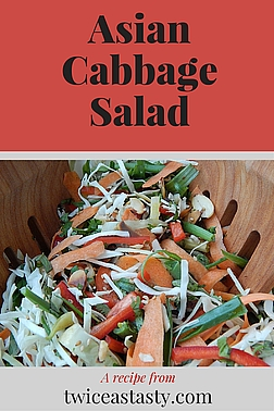 After years of losing brassica crops to moths, I recently started growing cabbage again. It has me hooked on a salad–seafood pairing. Learn to make Asian Cabbage Salad and Wasabi-Marinated Shrimp.
