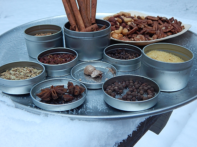 "Sweets top the list of foods given at the holidays, so some of my favorite ""small"" homemade gifts are short on sugar yet big on taste. Learn to make Sweet Spice Mix and Sweet and Spicy Nuts."