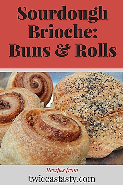 Buttery, rich, and sourdough? It may not be traditional, but brioche doesn't get much better than this. Learn to make Sourdough Brioche Dough and Sourdough Buns—and Sourdough Cinnamon Rolls.