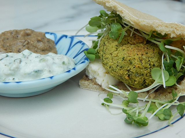 The trick to perfect home-made falafel is in the beans. Get Raw-Chickpea Falafel and Lemon–Tahini Sauce recipes at TwiceasTasty.com.
