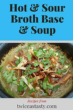 Soup is the ultimate comfort food. By planning ahead, you can have it in a flash—even when you're sick. Get Hot and Sour Broth Base and Soup recipes at TwiceasTasty.com.