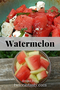 The nose-to-tail approach to cooking meats could be called tip to top for vegetables and fruits. Get whole watermelon recipes at TwiceasTasty.com.