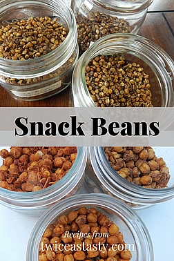 Homemade bean snacks shine as both party treats and everyday munchies. Get healthy snack recipes at TwiceasTasty.com.