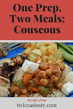 Quick meals don't get any easier than boiling water, pouring it over couscous, and adding fresh veg and canned beans. Get couscous recipes at TwiceasTasty.com.