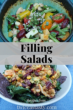 Salads are so versatile: chop up some ingredients, toss them with dressing, and your fresh, one-dish meal is ready to eat. Get salad recipes at TwiceasTasty.com.