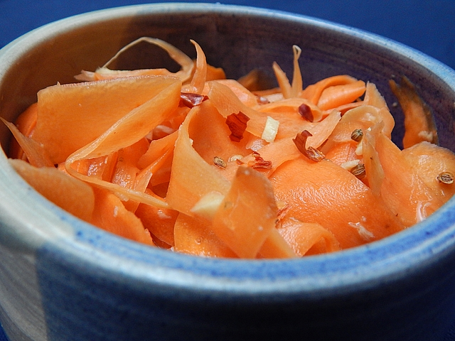 Barely Fermented Carrots