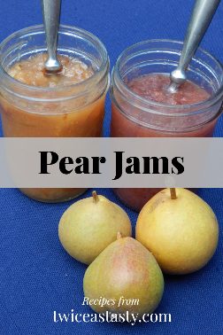 Lower-sugar, fruit-forward spreads easily last a couple of weeks in the fridge once open. Get pear recipes at TwiceasTasty.com.
