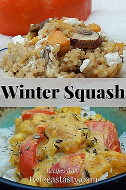 Squash and pumpkins keep far longer than you think and can be eaten from sunup to sundown. Get winter squash recipes at TwiceasTasty.com.