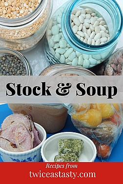 During your soup prep, you can make a quick stock just for your evening meal—or to share with housebound family and neighbors. Get stock and soup recipes at TwiceasTasty.com.