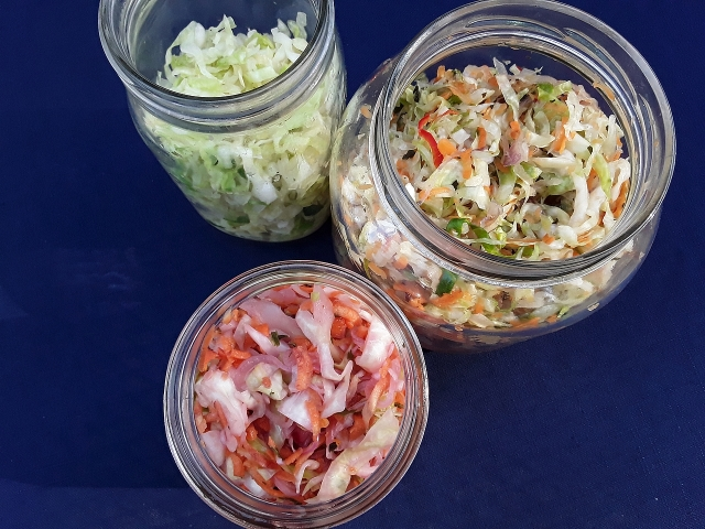 Preserving cabbage. Get the recipes in The Complete Guide to Pickling by Julie Laing.