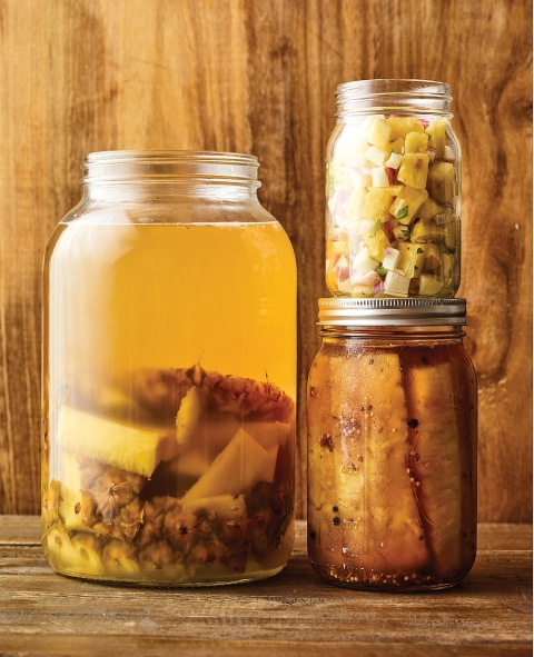 Pickling pineapple. Get the recipes in The Complete Guide to Pickling by Julie Laing.