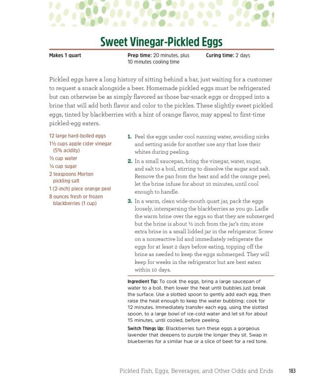 Sweet Vinegar-Pickled Eggs