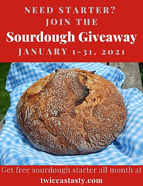 Get free sourdough starter—or wake up your dormant one. Learn more at TwiceasTasty.com.