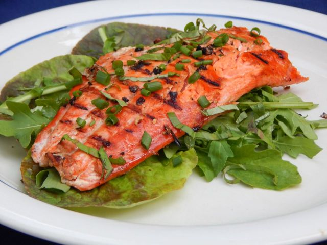 Whiskey-Basted Grilled Salmon