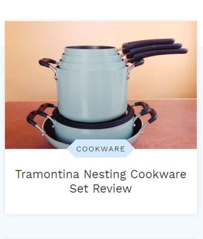 Tramontina's pots perform so well that I couldn't give them up. Learn more at TwiceasTasty.com.